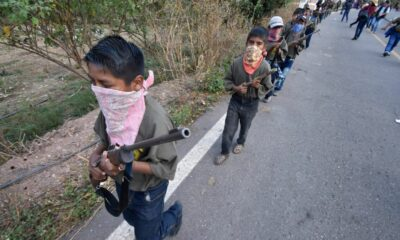 CNDH exhortó a proteger los DH de los niños armados de Chilapa