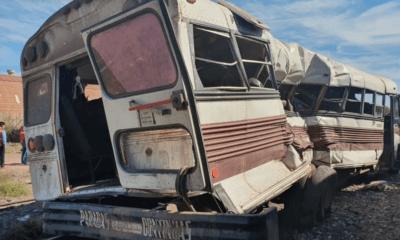 Tren, Embiste, Camión, Autobús, Accidente, Heridos, Vícam, Sonora, Ferromex,