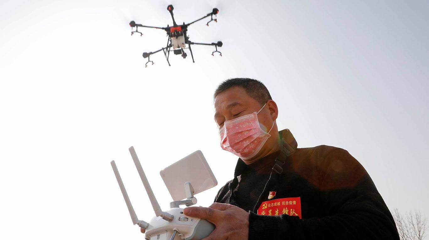 China utiliza drones para detectar personas con coronavirus