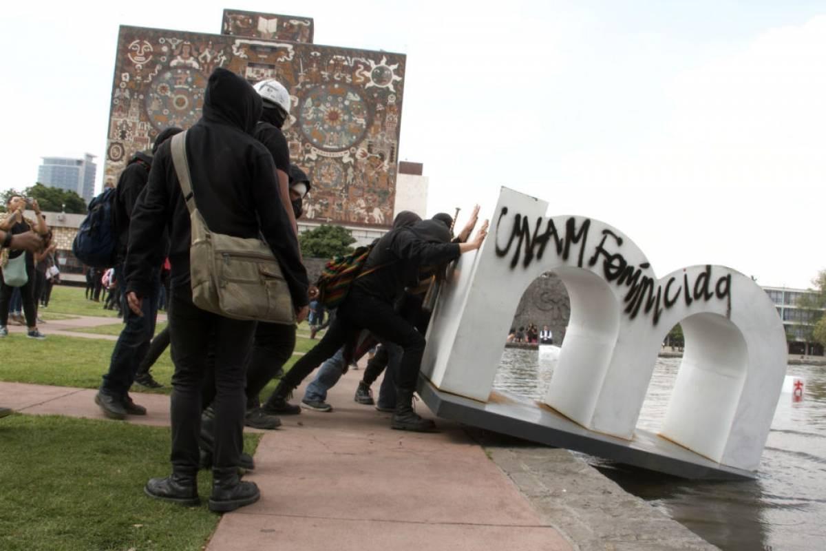 ANUIES exige sanciones por destrozos en la UNAM
