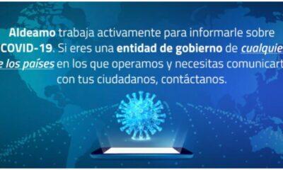 Aldeamo ofrece al gobierno de México su tecnología para concientizar sobre pandemia