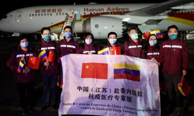 Llegan médicos chinos a Venezuela para atacar el Covid-19