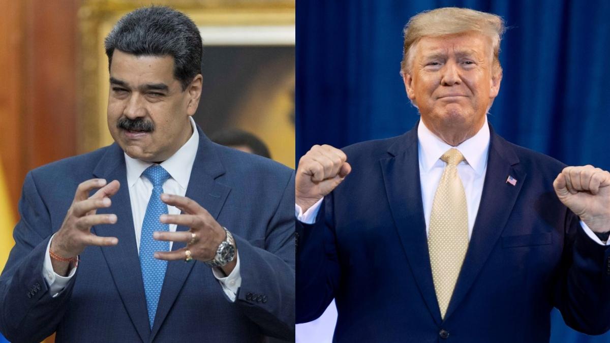 """Maduro responde a Trump; se dice """"dispuesto a combatirlo en todos los terrenos"""""""
