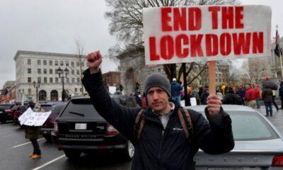 Protestas en estados de EU contra restricciones por pandemia
