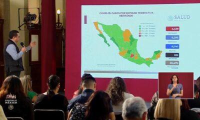 Aumentan a 2 mil 439 casos de Covid-19 en México; hay 125 defunciones
