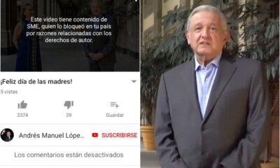 Por derechos de autor, YouTube y Facebook tumban serenata de 10 de mayo a AMLO