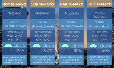 Nuevo Frente Frío provocará fuertes lluvias y granizadas en el país