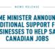 Trudeau anuncia medidas para mantener el empleo en medio de la pandemia