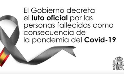 España decreta 10 días de luto por víctimas del Covid-19