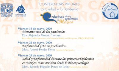 UNAM presenta conferencias 'Crónicas de otras pandemias'